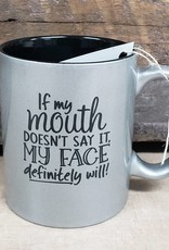 if my mouth silver mug