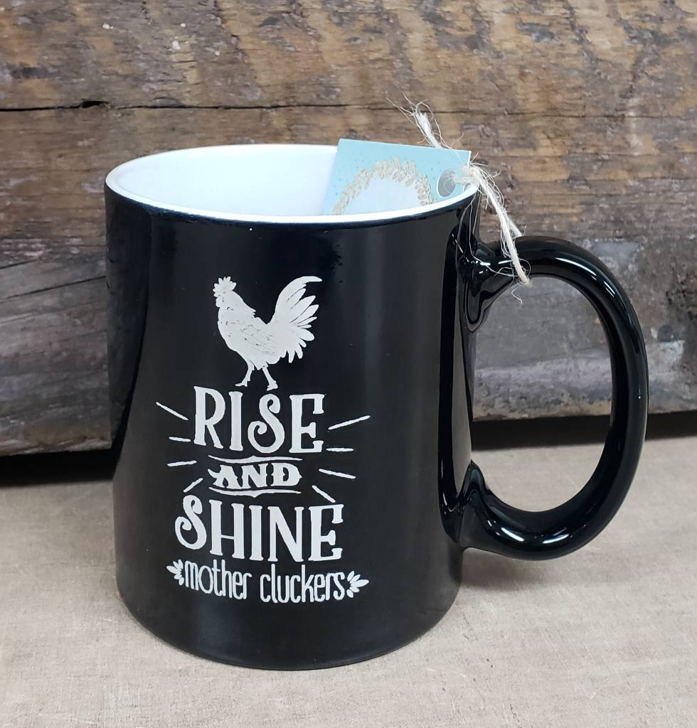 Mother Clucker Black Mug