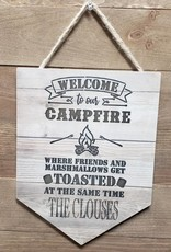 Wood Pendant- Welcome to Our Campfire