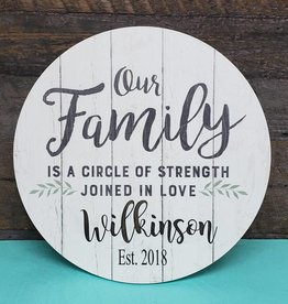 Our Family Circle Sign
