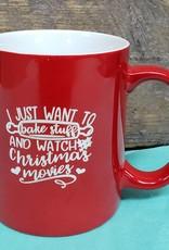 I just want to Bake Red Mug