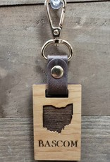 Wood Rectangle Key Chain