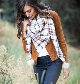 plaid triangle scarf™