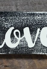 3X5 Love Black Sign