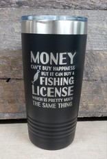 20 oz Tumbler Money Fishing License