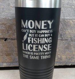 20 oz Tumbler Money Fishing License
