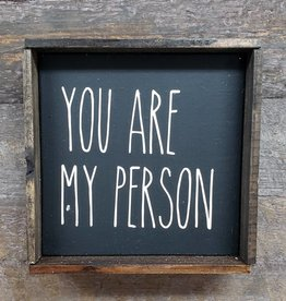 6X6 You Are My Person Black Framed
