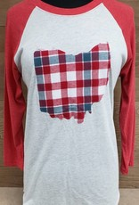 OHIO Plaid Cameron Red Sleeve