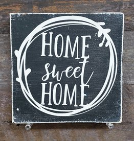 6x6 Home Sweet Home Black