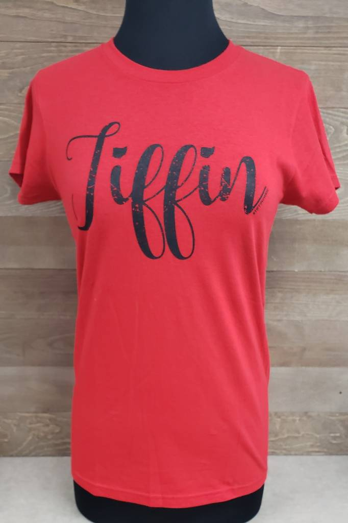 Tiffin Black Font Crew Neck