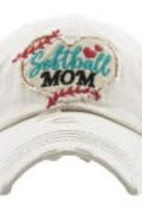 Vintage Hat Softball Mom