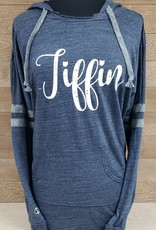 Tiffin Navy Striped Hoodie