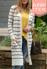 lightweight striped duster
