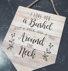Bushel and a Peck Wood Pendant
