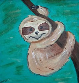 SLOTH PAINTING CLASS SUN 3/24/19 3PM