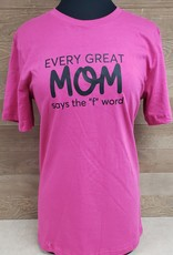 Every Great Mom Crew Neck T Shirt