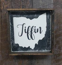 6x6 Tiffin Black  Framed