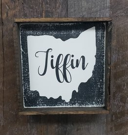 Tiffin Ohio Black 6x6 Framed