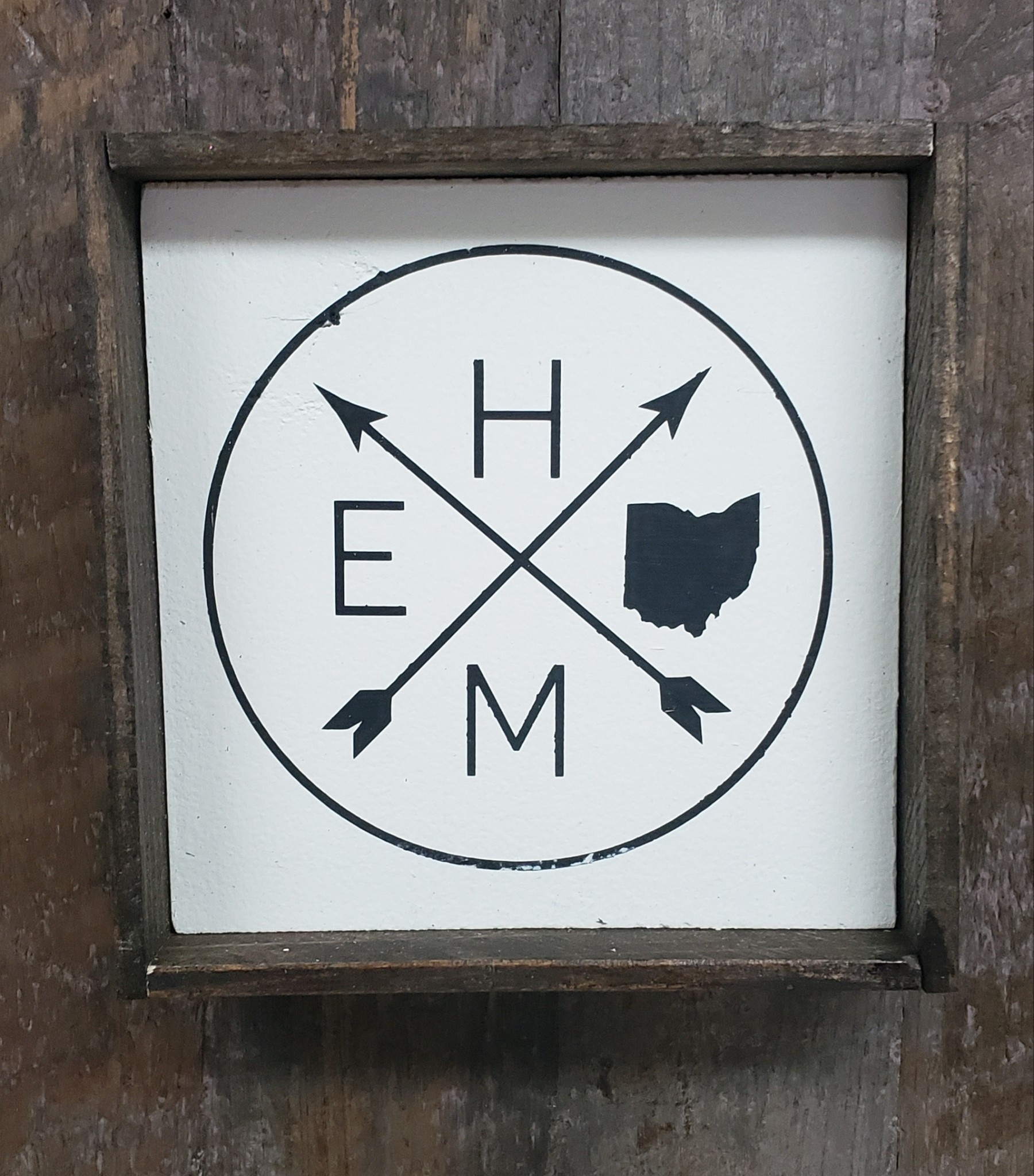 6x6 Home Circle with Ohio Framed