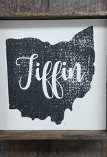 Tiffin Ohio Cream 6x6 Framed