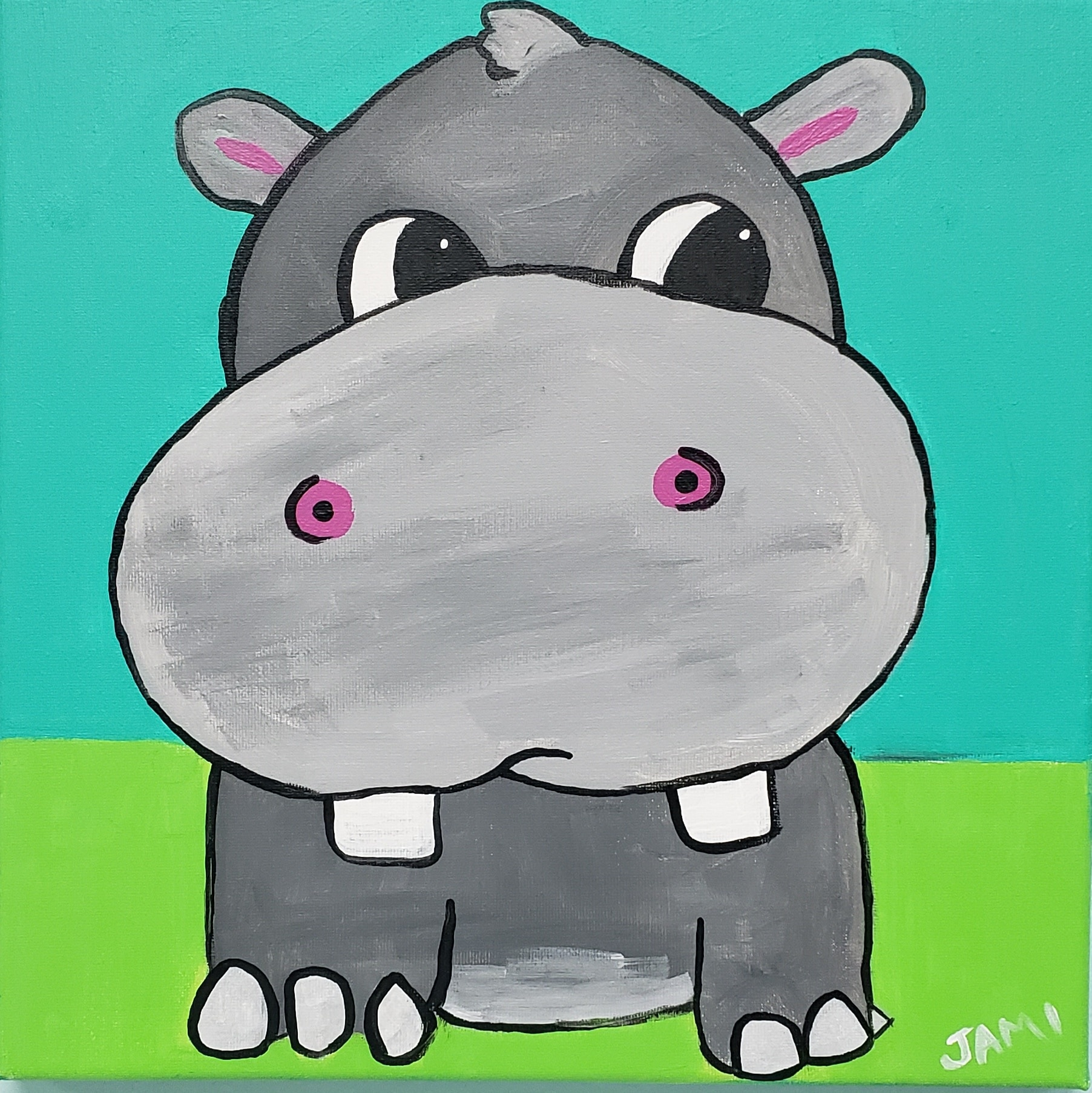 Hippo Painting Class SAT MAY 11TH 11AM