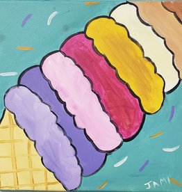 Ice Cream Cone Painting Class SAT JUNE 15TH 11AM