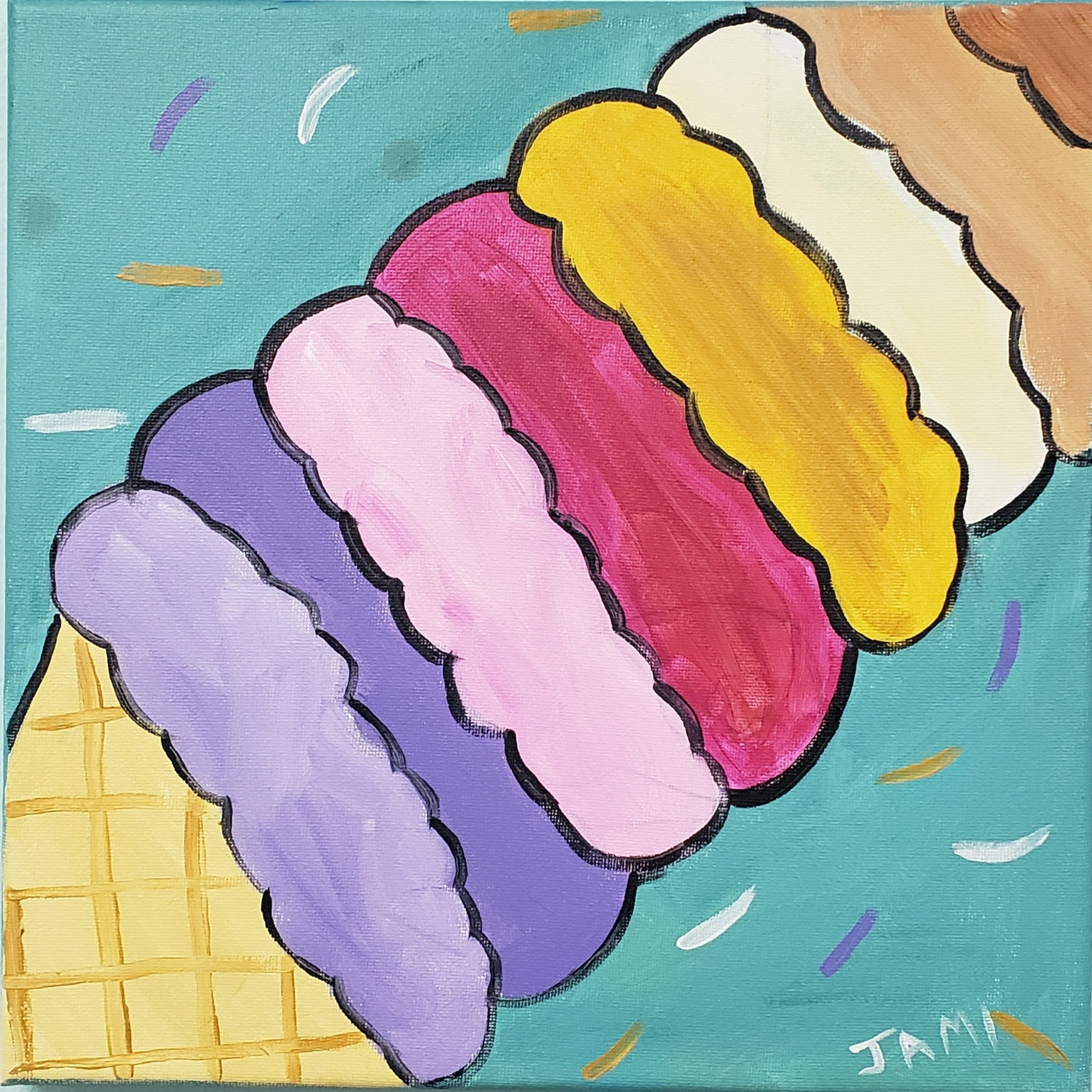 Ice Cream Cone Painting Class SAT JUNE 15TH 11AM