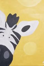 Zebra Painting Class SAT AUG 17TH 11AM