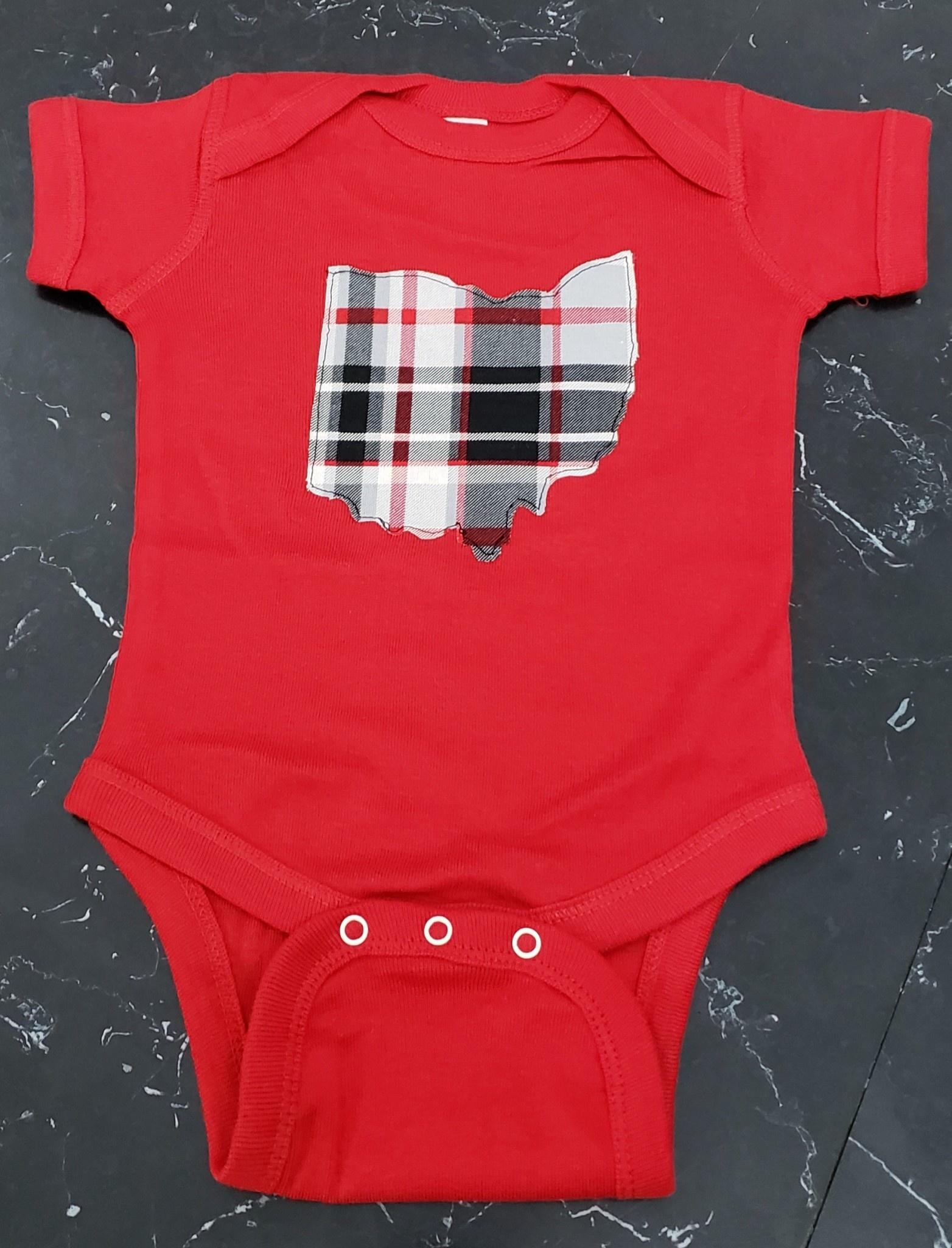 Baby Ohio Matt Red Onesie