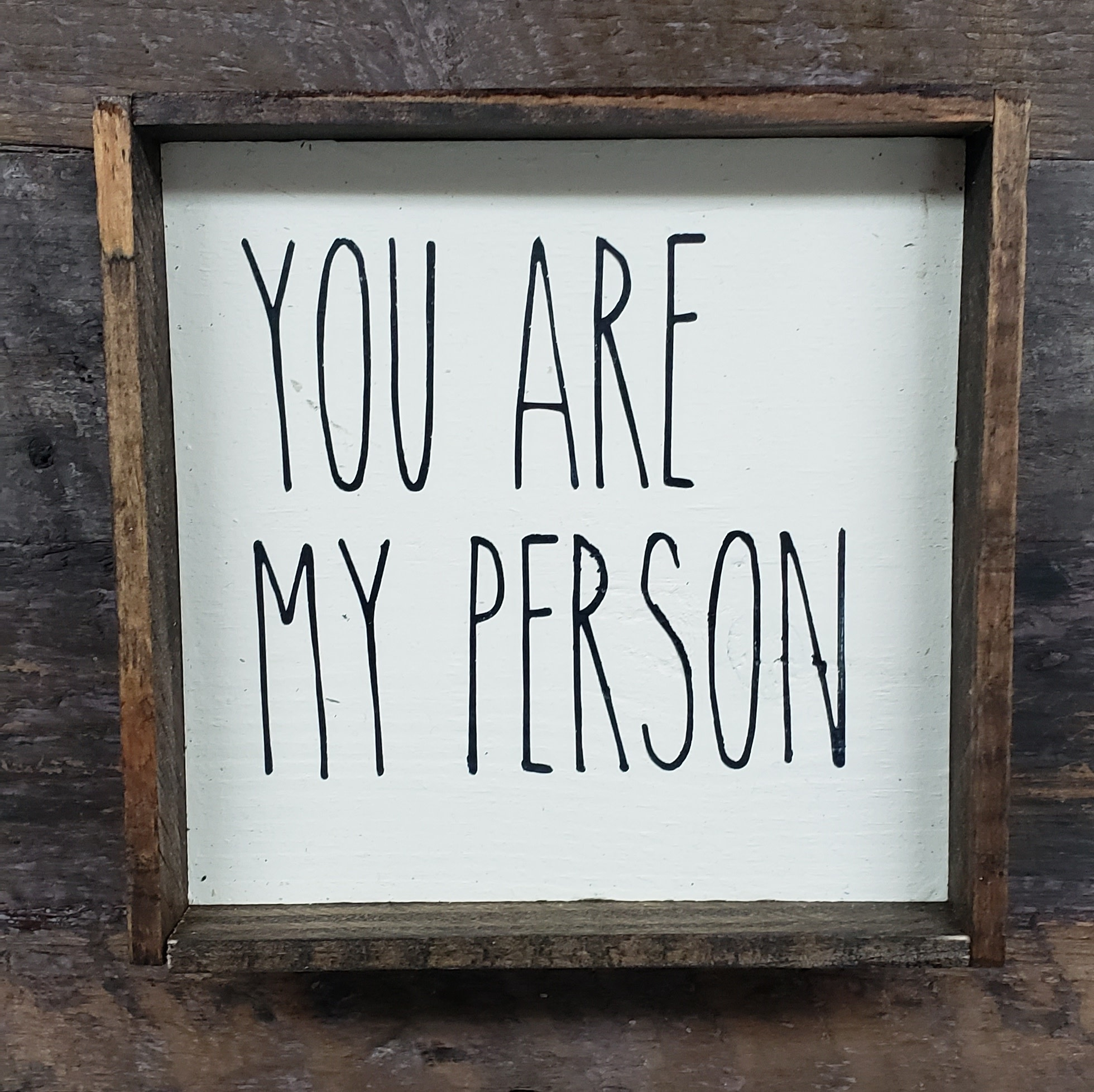6X6 You Are My Person Cream Framed