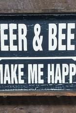 6x9 Deer & Beer Black Framed