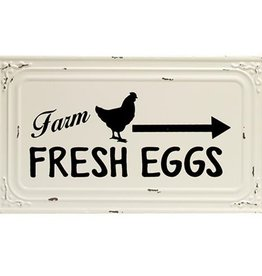 Farm Fresh Eggs Metal Ceiling Tile Sign