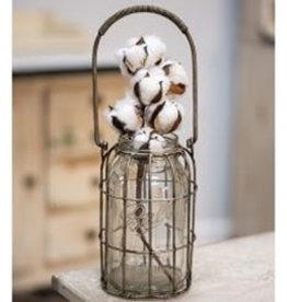 Glass Flower Jar