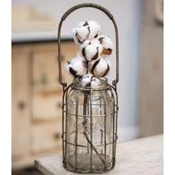 Glass Flower Jar