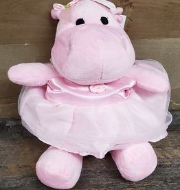 "Plush 11"" Pretty in Pink Hippo"
