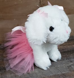 "Plush 9.5"" Ballerina Puppy"