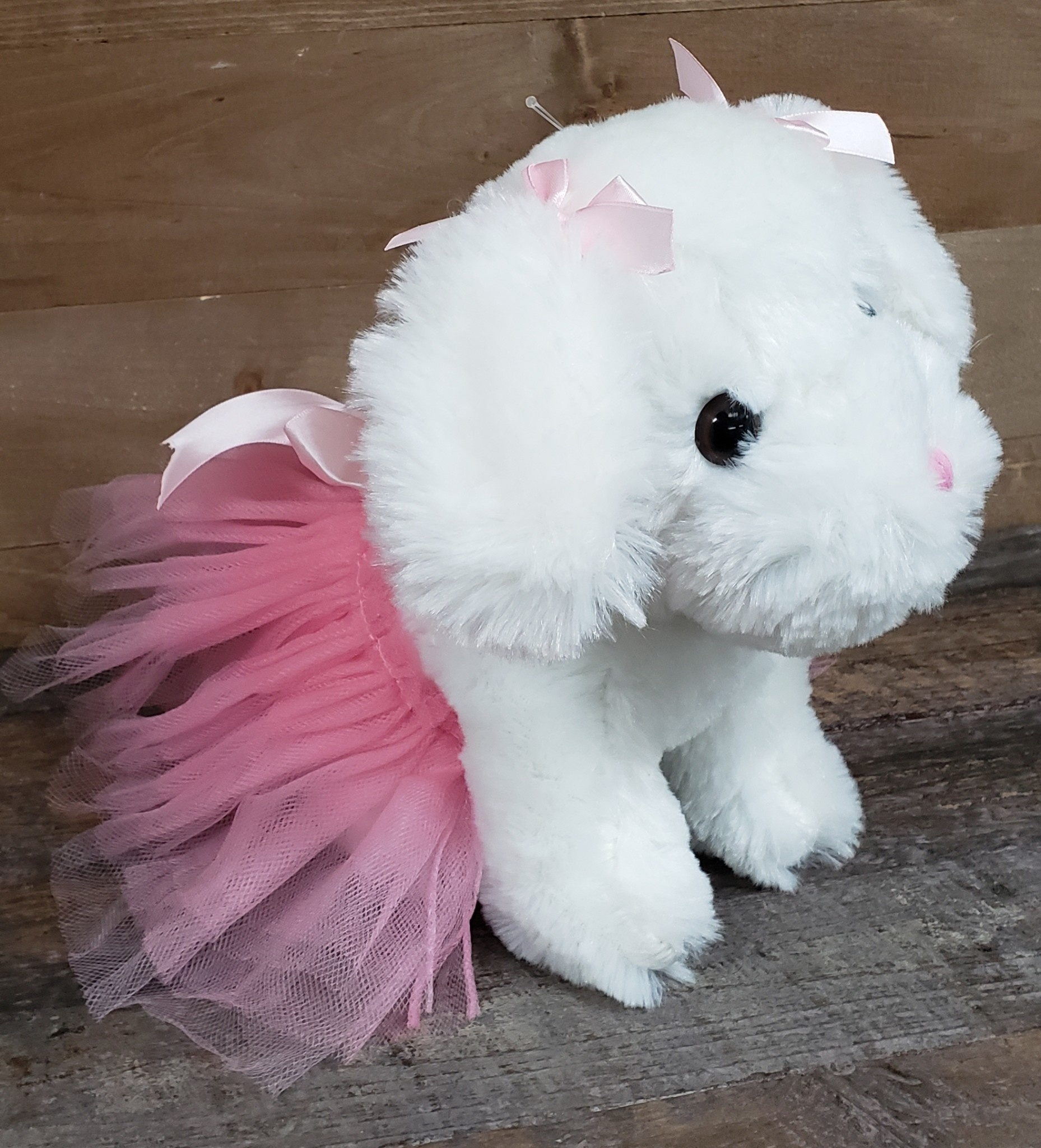"Plush 9.5"" Ballerina Puppy"