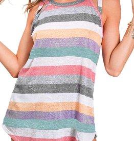 Bess Stripe knit crisscross