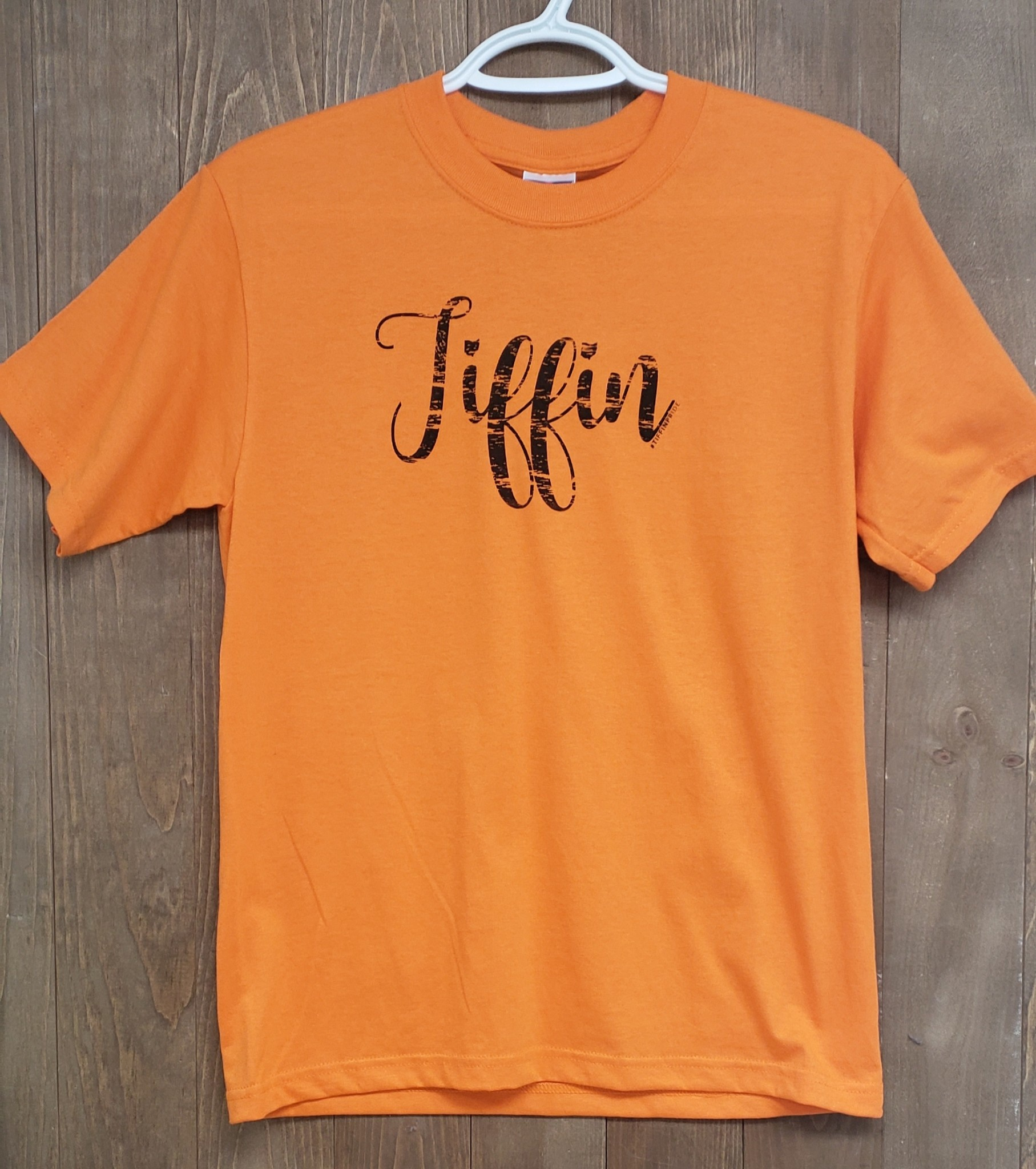 Kids Crew Neck Tee w/ Black Tiffin Script