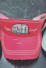 Vintage Visor Happy Camper