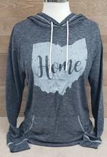Ohio Home Dark Heather Gray Hoodie