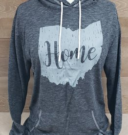 Ohio Home Dark Heather Gray Hoodie