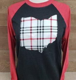 Seth Ohio Baseball Tee Black w/ Red Sleeve