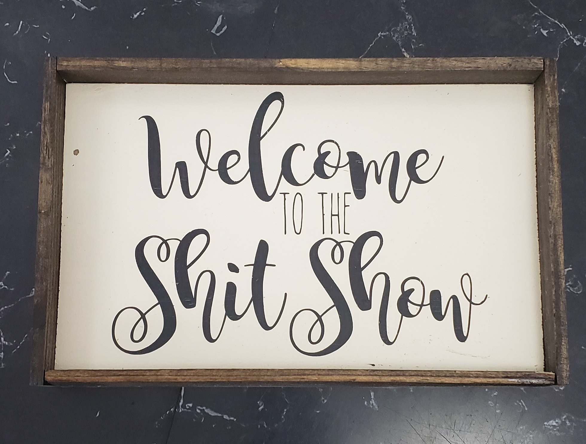 6x9 Welcome to the Shit Show Framed
