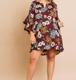 KAREN FLORAL PRIN DRESS