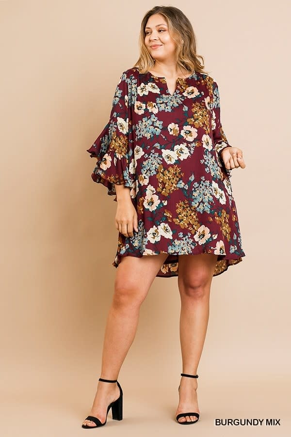 KAREN FLORAL PRIN DRESS