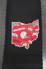 OSU with Helmet Black Towel
