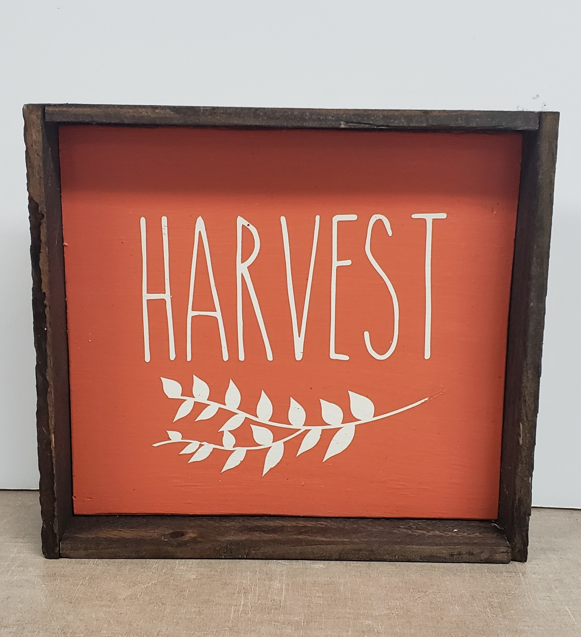 6x6 Orange Harvest Framed