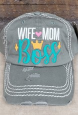 Vintage Hat Wife Mom Boss