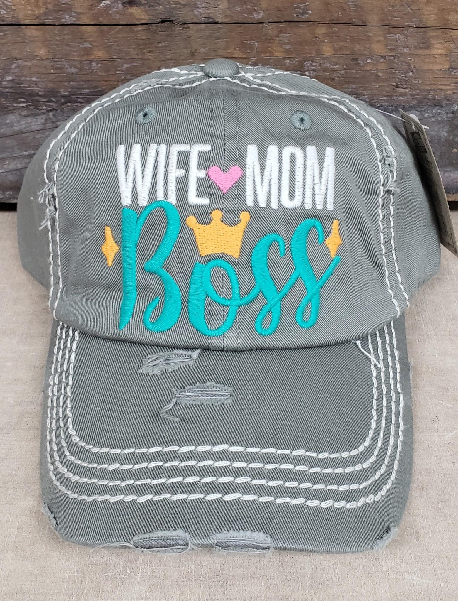 Wife Mom Boss Hat